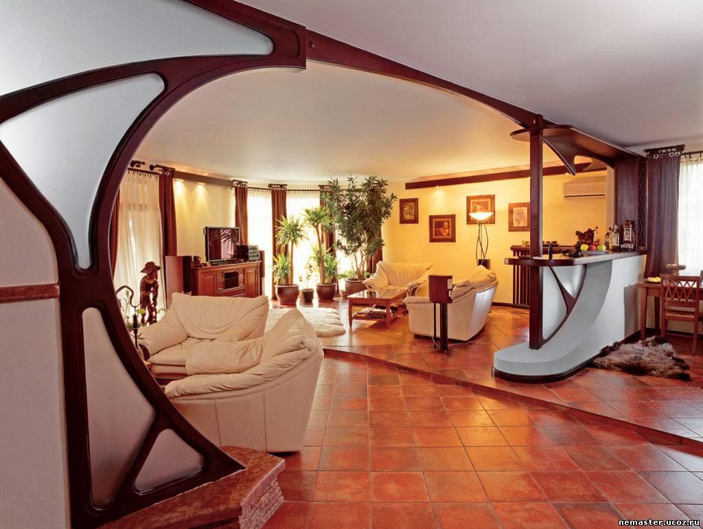 Проект дизайна кухни-гостиной в доме
